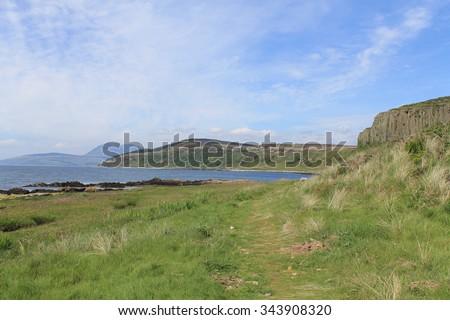 Blackwaterfoot - Isle of Arran - Scotland - stock photo