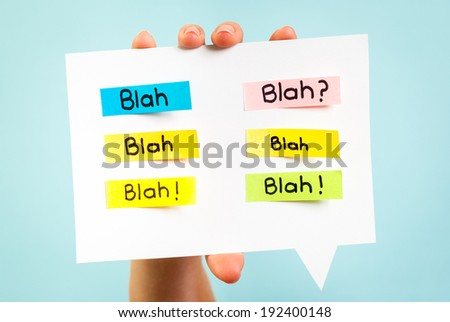 Blah Blah Blah message on speech bubble - stock photo