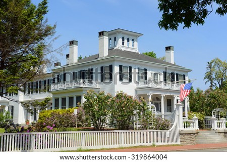 Blaine House is the official residence of the Governor of Maine and his or her family. The current residents are Governor Paul LePage had his family. - stock photo