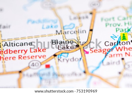 Blaine Lake Canada On Map Stock Photo 753190969 Shutterstock