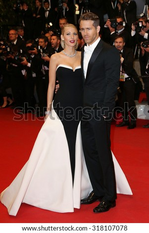 Blake Lively and Ryan Reynolds attend the 'Captives' Premiere at the 67th Annual Cannes Film Festival on May 16, 2014 in Cannes, France. - stock photo