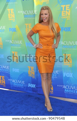 Blake Lively arrives at the 2011 Teen Choice Awards at the Gibson Amphitheatre, Universal Studios, Hollywood. August 7, 2011  Los Angeles, CA Picture: Paul Smith / Featureflash