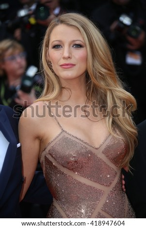 Blake Lively attends the 'Cafe Society' premiere and the Opening Night Gala during the 69th Cannes Film Festival at the Palais des Festivals on May 11, 2016 in Cannes, France. - stock photo