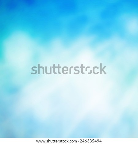 Blank abstract sky in sun light - stock photo