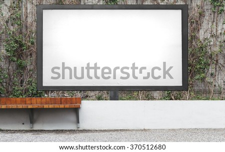 Blank advertising billboard  - stock photo