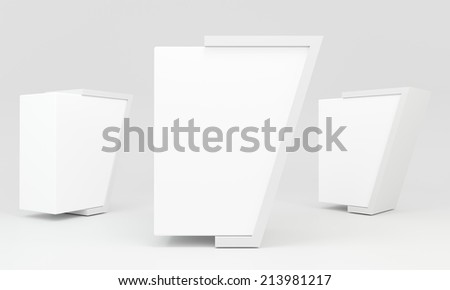 Blank advertising billboard abstract shape isolated on white background