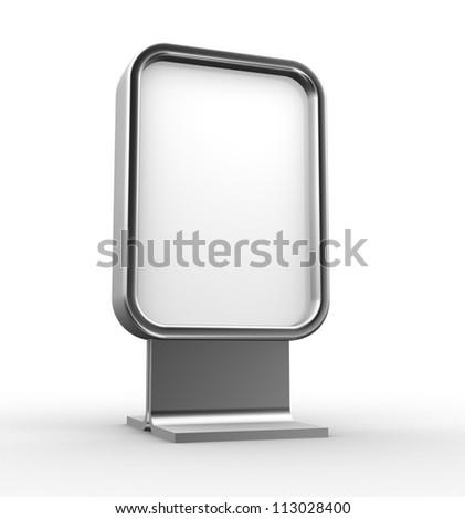 Blank advertising billboard . 3d render - stock photo