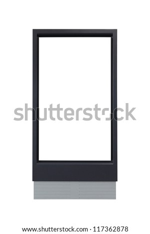 blank advertising billboard isolated on white background - stock photo