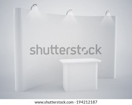 blank advertising stand