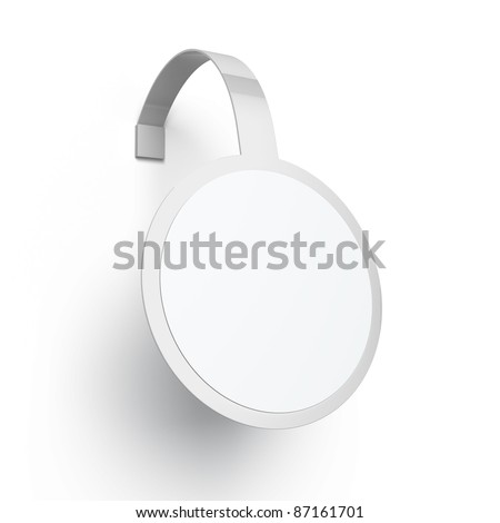 Blank advertising wobbler - stock photo