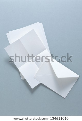 blank airmail envelope - stock photo