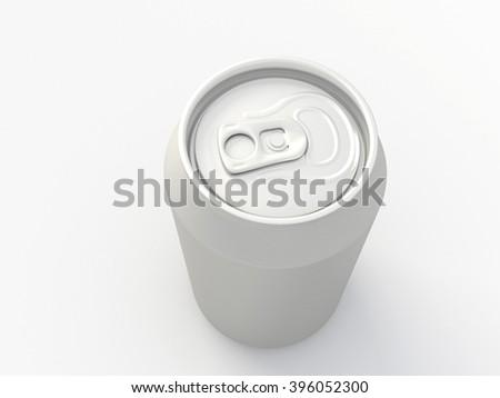 Blank Aluminum drink can. 3D illustration  - stock photo