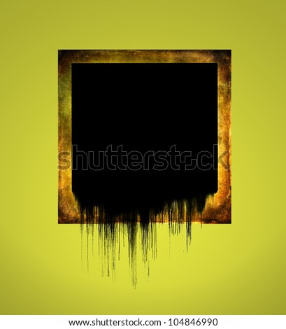 Blank and dripping instant photo. Useful for banner or logo. - stock photo