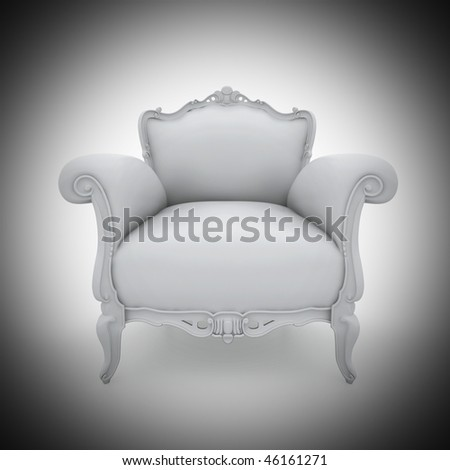 Blank armchair with studio lighting