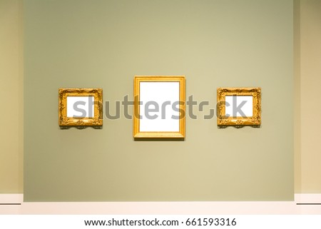 Blank Art Museum Isolated Painting Frame Stock Photo 661593316 ...