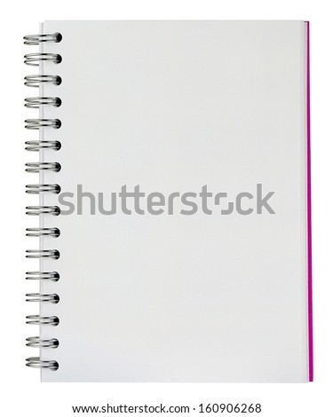 blank background. paper spiral notebooks isolated on white background - stock photo