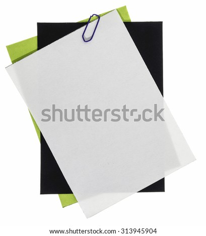 Blank background papers for note - stock photo