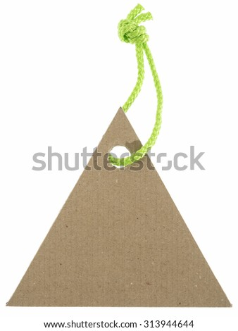 Blank background shaped paper for note - stock photo