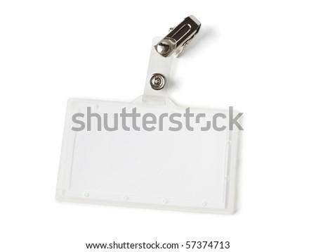 Blank badge isolated on white background - stock photo