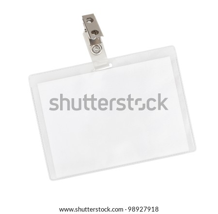 Blank badge isolated on white background - stock photo