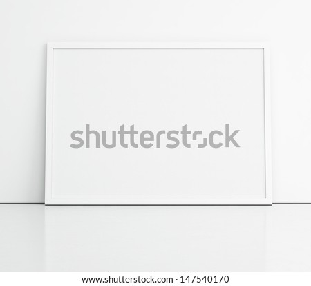 blank banner on the wall  - stock photo