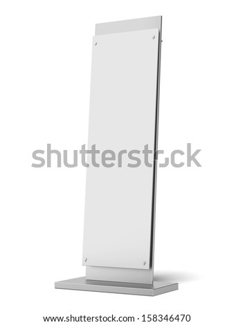 Blank banner stand - stock photo