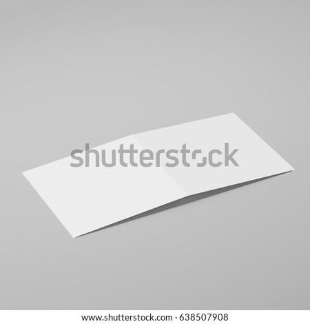 blank bifold square brochure leaflet pamphlet stock illustration 638507947 shutterstock. Black Bedroom Furniture Sets. Home Design Ideas
