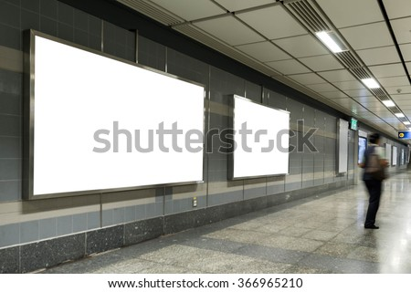 Blank bill board for advertising - stock photo