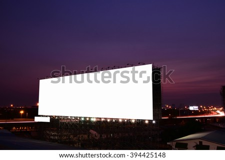 blank billboard - advertising outdoor public commercial - stock photo