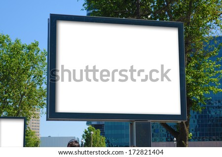 Blank billboard and outdoor advertising for more billboard visit our portfolio - stock photo
