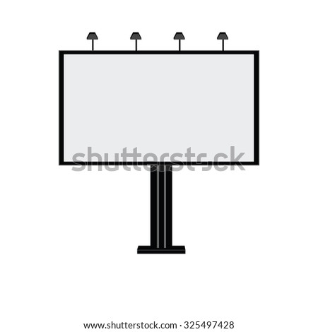 Blank billboard, billboard, billboard city, advertising - stock photo