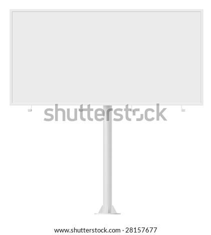 Blank billboard. Design template, contains clipping path.
