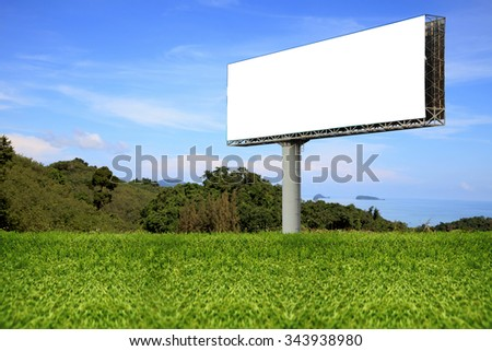 Blank billboard for advertisement. - stock photo