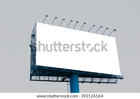Blank billboard for advertisement, Background gray - stock photo
