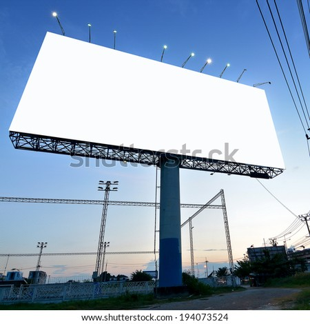 blank billboard for advertising - stock photo