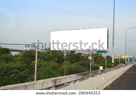 Blank billboard for new advertise.