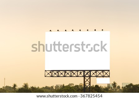 Blank billboard for new advertise. Vintage filter. - stock photo