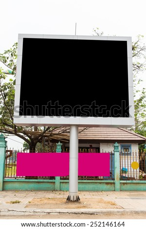 Blank billboard for new advertise. With clipping path.