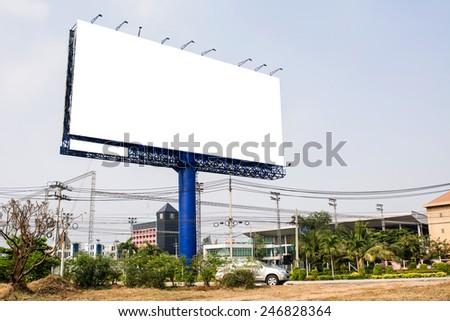 Blank billboard for new advertisement  - stock photo