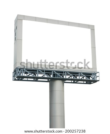 Blank billboard for your advertisement