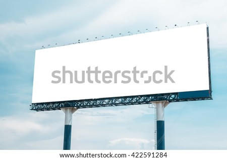 Blank billboard for your advertisement - stock photo