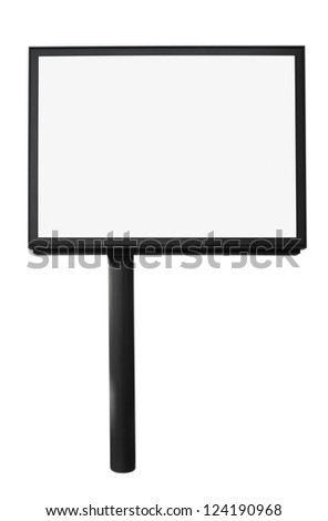 Blank Billboard for your advertising situated (with work path)