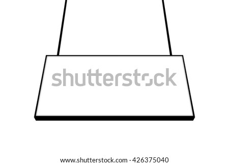 Blank billboard frame ready for advertisement. Elegant Design with copy space for placement your text, mock up your product, image, photo inside the billboard frame. - stock photo