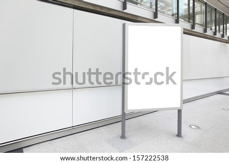 Blank Billboard in airport shot in asia, hong kong, great for your copy space - stock photo
