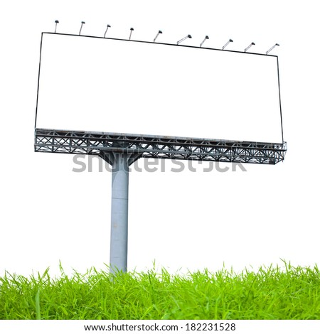 Blank billboard on isolate. Useful for your advertisement - stock photo
