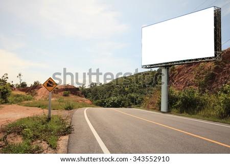 blank billboard or road sign - stock photo