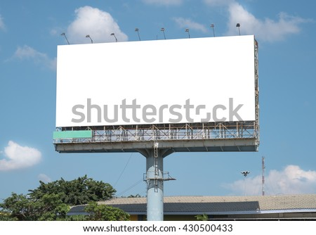 Blank Billboard Template with clipping path