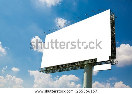 Blank billboard with clipping path.