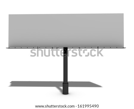 blank billboard with copy space isolated illustration - stock photo