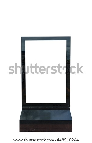 Blank billboard with white background - stock photo